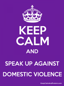 Speak up against domestic violence